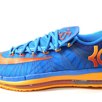 Nike Men's KD VI Elite Blue/Orange Basketball Shoes 642838 400