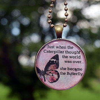 The Caterpillar Necklace - Inspirational Butterfly Necklace