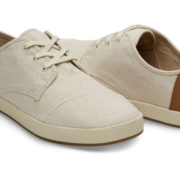NATURAL BURLAP MEN'S PASEO SNEAKERS