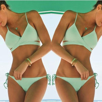 Retro Low Waist Bathing suit Set
