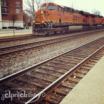 8x8 inch Photo Print The BNSF by AprilArtistry on Etsy