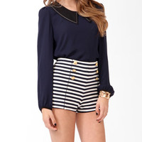 Pointed Collar Top