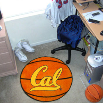 "California - Berkeley UC  University of Basketball Mat 26"" diameter"