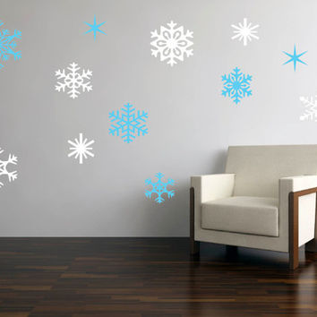 Christmas vinyl decal Snowflake - custom color