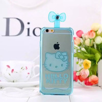 Hot Sale Iphone 6/6s On Sale Stylish Cute Hot Deal Korean Iphone Transparent Fragrance Cats Silicone Soft Phone Case [4915486212]