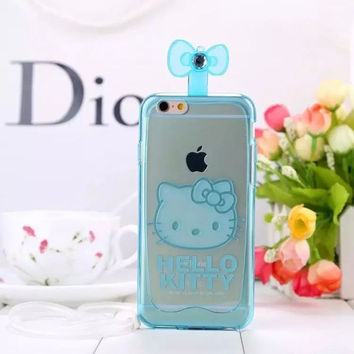 Hot Sale Iphone 6/6s On Sale Stylish Cute Hot Deal Korean Iphone Transparent Fragrance Cats Silicone Soft Phone Case [6034131201]