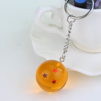 Dragon ball Z keychain  (7 dragon balls)
