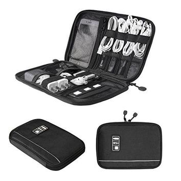 BAGSMART Travel Universal Cable Organizer Case For Various USB, Phone, Charger and Cable
