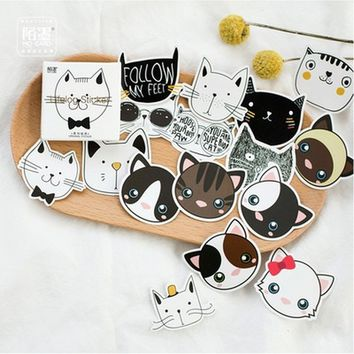 45 Pages Mixed Pattern Cute Cats Labels Stickers Scrapbook Masking Sticky Sticker Sealing Paste Decal Scrapbook Masking