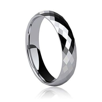 Milo Bruno Diamond Cut Honeycomb Tungsten Wedding Ring