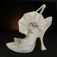BENJAMIN ADAMS SISSY  Wedding Shoes and SISSY Dyeable Bridal Shoes WHITE, IVORY