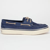 Sperry Top-Sider Bahama Mens Boat Shoes Washed Navy  In Sizes