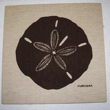 VINTAGE SCREEN PRINT Marushka Sand Dollar Wall by TheRightJack
