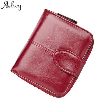 Aelicy Wallet Women Fashion Purse Female Wallet pu leather multifunction purse small money bag coin pocket wallet pouch beutel