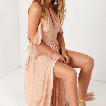 The Jetset Diaries Sierra Off-The-Shoulder Tie-Sleeve Maxi Dress - Urban Outfitters