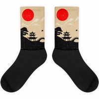 Dreaming Japan Black Foot Socks