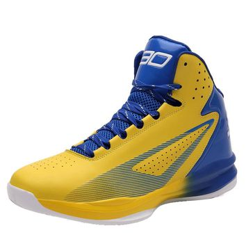 No.30 Stephen Curry Basketball Shoes Cushioning Rubber Sole Lace Up Shockproof Athletic Outdoor Sports Shoes