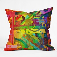 Nick Nelson Future Patterns Throw Pillow