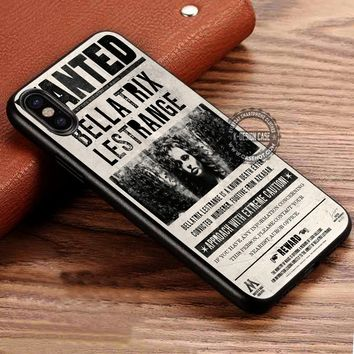 Harry Potter Bellatrix Lestrange Wanted Poster iPhone X 8 7 Plus 6s Cases Samsung Galaxy S8 Plus S7 edge NOTE 8 Covers #iphoneX #SamsungS8