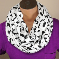 Mustache Infinity Scarf