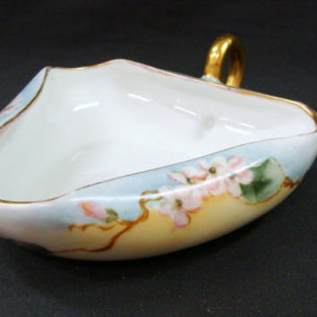O & E.G. Royal Austria Nut Dish |  Nappy | Serving Bowl | Pastel Flowers | Blue Yellow