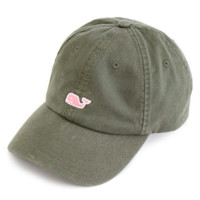 Vineyard Vines Signature Whale Logo Women's Baseball Hat- Olive