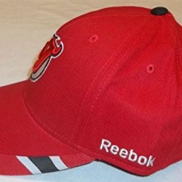 DCCK8X2 NHL New Jersey Devils Structured Adjustable Hat, One Size