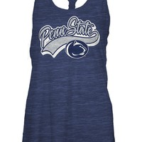 Penn State Nittany Lions Womens Tank Top - Navy Blue Penn State Cinch Sleeveless Shirt