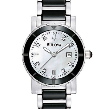 Bulova 98P122 Women's Quartz Diamond Ceramic Watch
