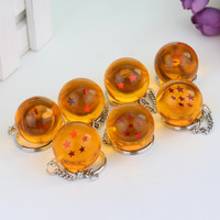 DBZ Crystal Ball 1-7 Stars Keychain and necklaces