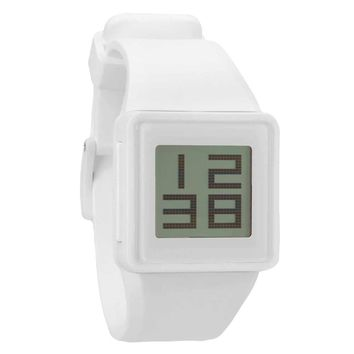 Nixon A137100 Men's Newton Digital White Polyurethane Rubber Strap Digital Watch
