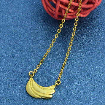 Banana Alloy Pendant Necklace