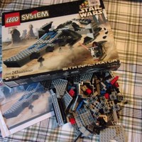 Lego Star Wars 7151 Sith Infiltrator with manual 1999 Loose Used Box