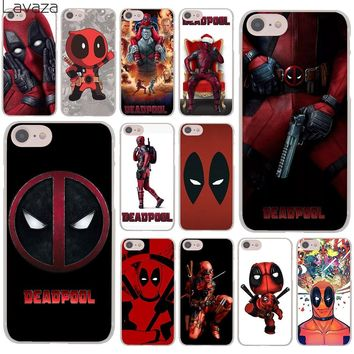 Lavaza Deadpool Marvel Wade Winston Wilson Hard Cover Case for iPhone X XS Max XR 6 6S 7 8 Plus 5 5S SE 5C 4S 10 Phone Cases