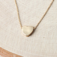 LA Hearts Gold Heart Necklace at PacSun.com