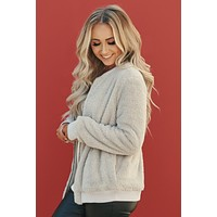 Don't Worry Be Furry Bomber Jacket (Grey)