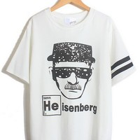 Heisenberg I'm The One Who Knock Printing Short Sleeve T-shirt - Light Grey, Wine Red, Chocolate, Black or White from Tobi's Finds