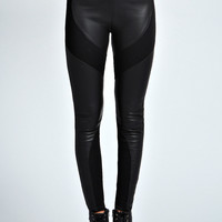 Mariah PU Full Panel PU Back Leggings