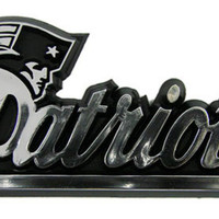 NFL New England Patriots Chrome Auto Emblem