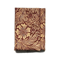 iPad stand and case, iPad Air, Mini, tablet  sleeve, fabric cover, Sanderson, William Morris Marigold fabric, late 80s, Arts and Crafts