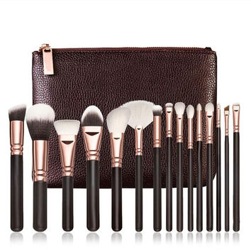 2017 Most Popular 15 PCS Pro Makeup Brushes Set Cosmetic Complete Eye Kit + Case pinceis para maquiagem Fashion style Anne