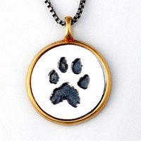 Custom Paw Print Pendant - Jak Figler - Animal Lover - Pet - Dog - Necklace - Jewelry - Made to Order