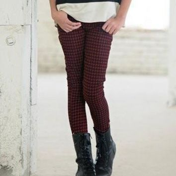Outlet Persnickety Veronika Jeans in Houndstooth