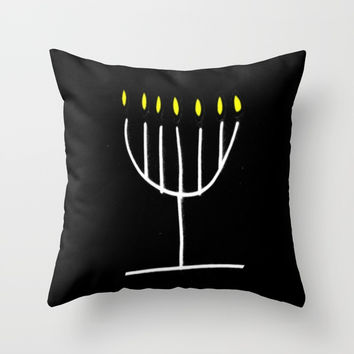 menorah,Hanukkah,jewish,jew,judaism,Festival ofLights,Dedication,jerusalem,lampstand,Temple Throw Pillow by oldking