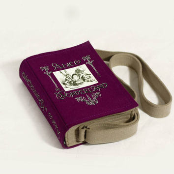 Alice In Wonderland Purple Felt Book Bag