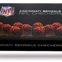 NFL Cincinnati Bengals Checkers Game Set
