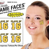 Gold Class of Temporary Tattoos - 25 Sheets (2016)