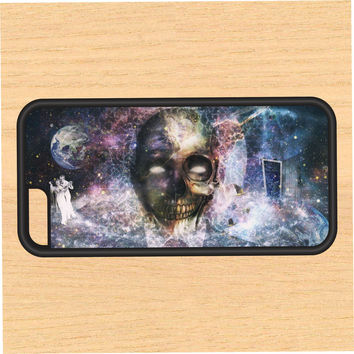 Skull in Space Galaxy PC SEC1 Print Design Art iPhone 4 / 4s / 5 / 5s / 5c /6 / 6s /6+ Apple Samsung Galaxy S3 / S4 / S5 / S6