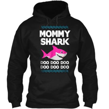 Mommy Shark Doo Doo  Funny Kids Video Baby Daddy Pullover Hoodie 8 oz