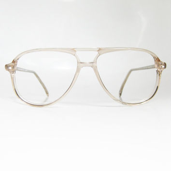 1970s Sunglasses Mens  vintage clear transpa mens aviator from oliverandalexa on